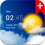 Transparent clock weather Premium - FREE Weather APP for Android